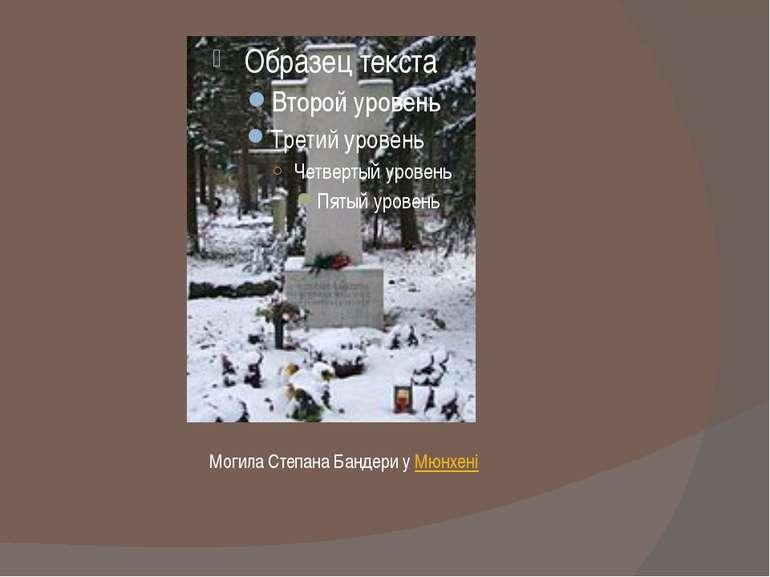 Могила Степана Бандери уМюнхені
