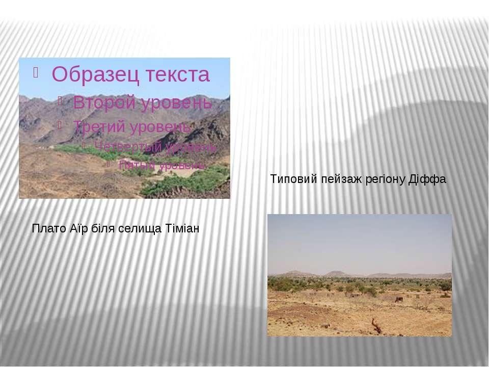 Плато Аїр біля селища Тіміан Типовий пейзаж регіону Діффа