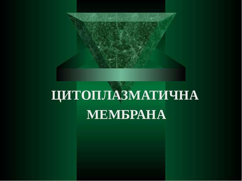 ЦИТОПЛАЗМАТИЧНА МЕМБРАНА