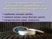 Діючими речовинами є дисперсна фаза суспензії (наповнювачі), що представлена ...