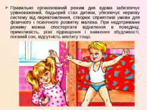 Правильно організований режим дня вдома забезпечує урівноважений, бадьорий ст...
