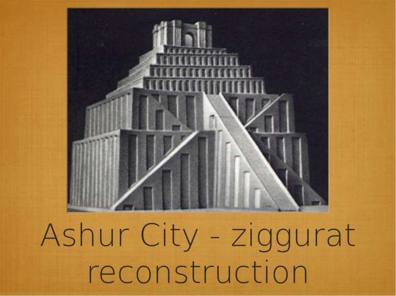 Ashur City - ziggurat reconstruction