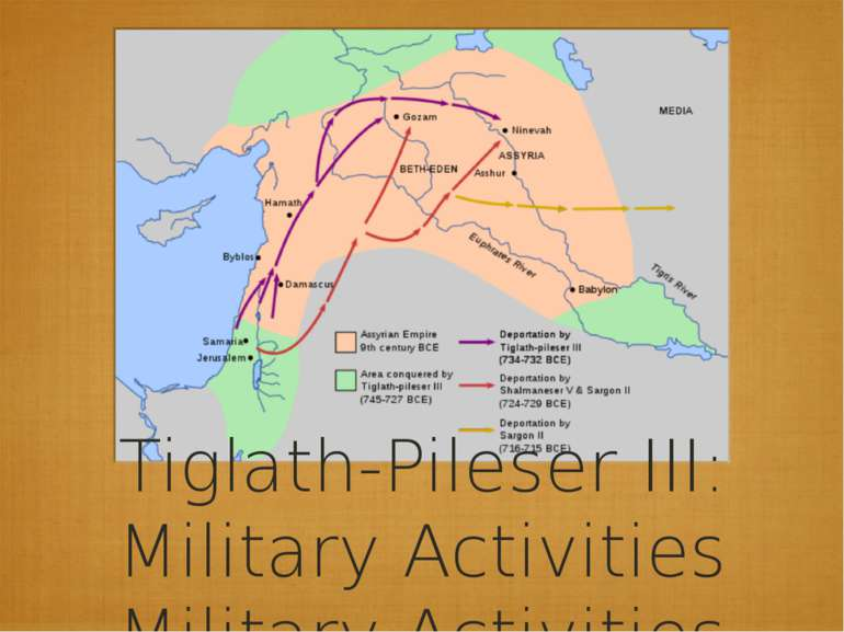 Tiglath-Pileser III: Military Activities