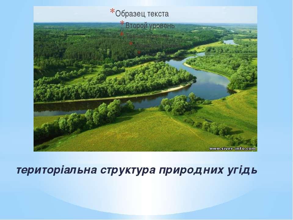 територіальна структура природних угідь