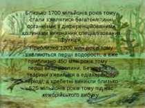 Близько 1700 мільйонів років тому, стали з'являтисябагатоклітинні органеізми...