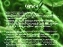 Віруси Є декілька гіпотез виникнення вірусів. Згідно з однією, віруси являють...