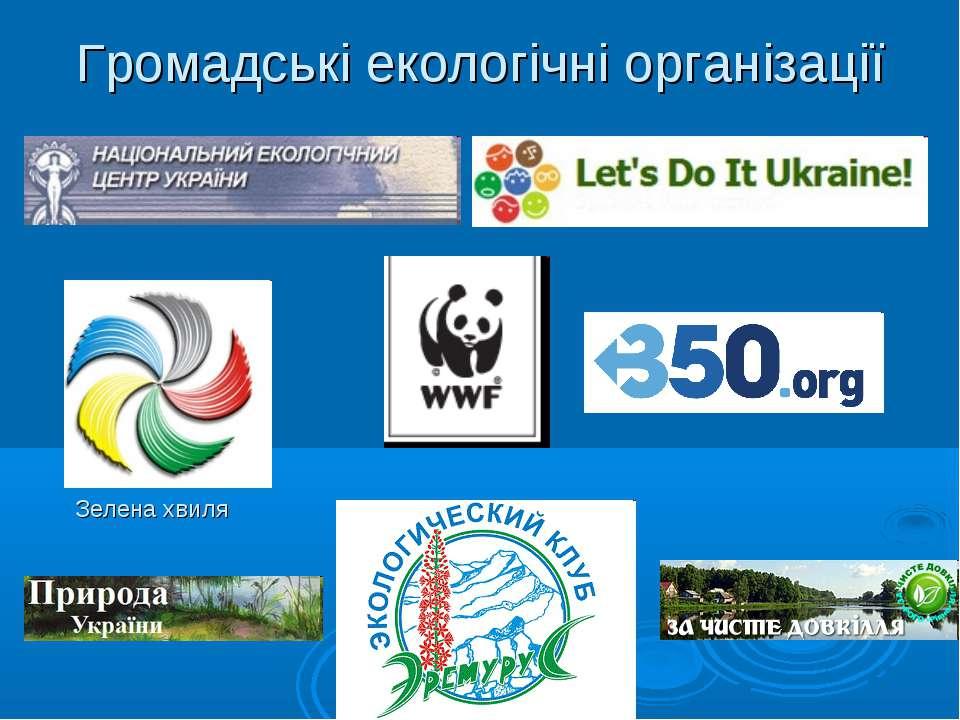 Громадські екологічні організації Зелена хвиля