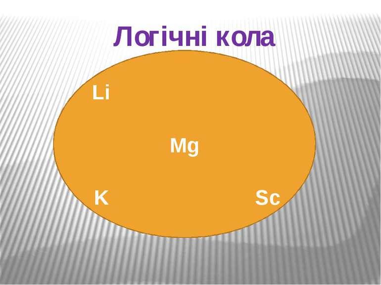Логічні кола Li Mg K Sc