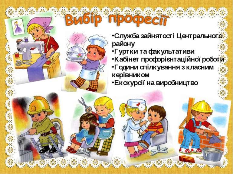 Служба зайнятості Центрального району Гуртки та факультативи Кабінет профоріє...