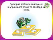 Друкарня здійснює складання внутрішнього блока та обкладинки книги. FokinaLid...