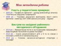 Виступи на засіданні районного методичного об'єднання:Виступи на засіданні ра...