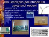 Що необхідно для створення локальної мережімережеву картумережевий концентрат...