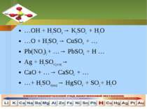 …OH + H2SO4 → K2SO4 + H2O…OH + H2SO4 → K2SO4 + H2O…O + H2SO4 → CuSO4 + …Pb(NO...