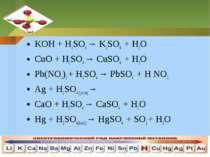 KOH + H2SO4 → K2SO4 + H2OKOH + H2SO4 → K2SO4 + H2OCuO + H2SO4 → CuSO4 + H2OPb...