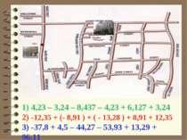 1) 4,23 – 3,24 – 8,437 – 4,23 + 6,127 + 3,242) -12,35 + (- 8,91 ) + ( - 13,28...