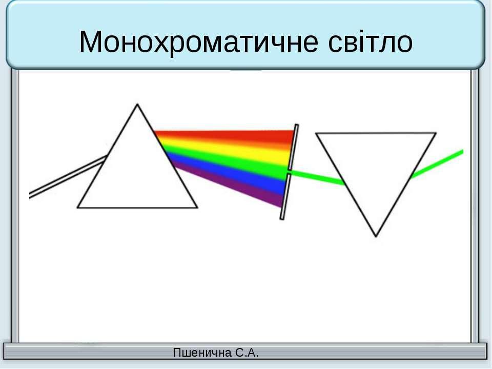 Монохроматичне світло