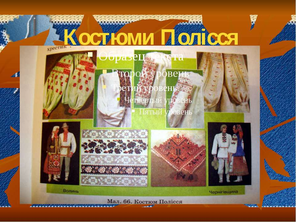 Костюми Полісся