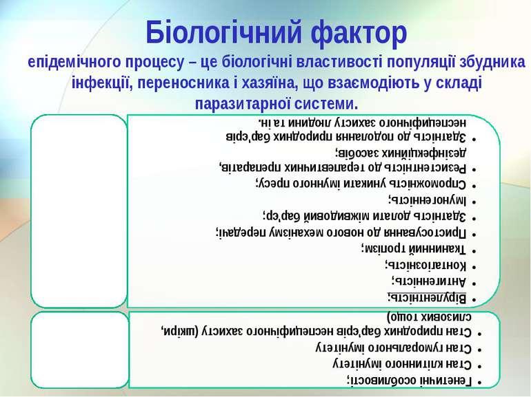 Біологічний фактор епідемічного процесу – це біологічні властивості популяції...
