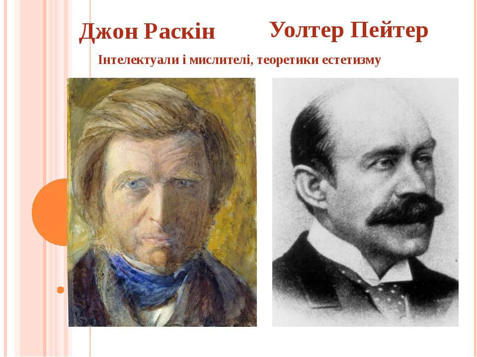 Джон Раскін Уолтер Пейтер Інтелектуали і мислителі, теоретики естетизму