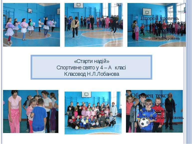 «Старти надій» Спортивне свято у 4 – А класі Класовод Н.Л.Лобанова