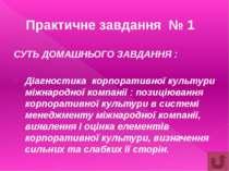 ТРЕНІНГОВОГО ЗАНЯТТЯ №1 «МОДЕЛЮВАННЯ КРОС – КУЛЬТУРНОЇ ПЕРЕГОВОРНОЇ ПОВЕДІНКИ»