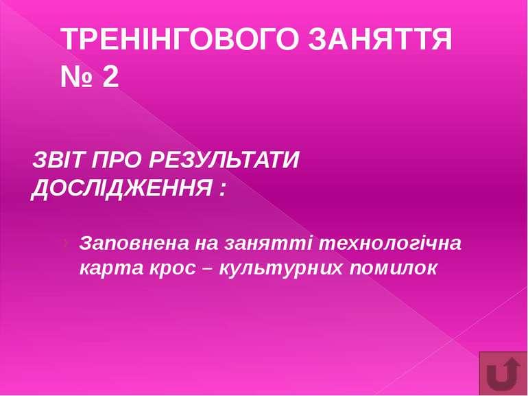 ЕТАП 1 Визначення моделі культурних цінностей 1. ОРІЄНТАЦІЯ КУЛЬТУРИ ВЕДЕННЯ ...
