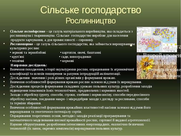 Сільське господарство Рослинництво Сільське господарство – це галузь матеріал...