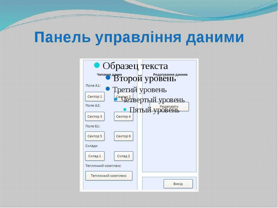 Панель управління даними
