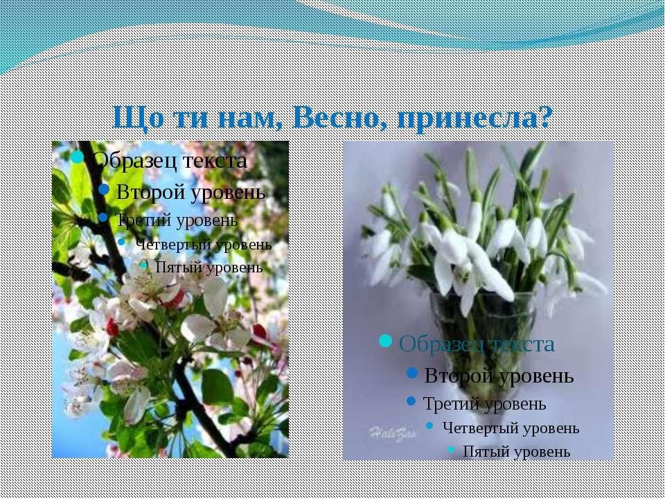 Що ти нам, Весно, принесла?