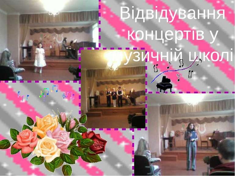 Відвідування концертів у музичній школі