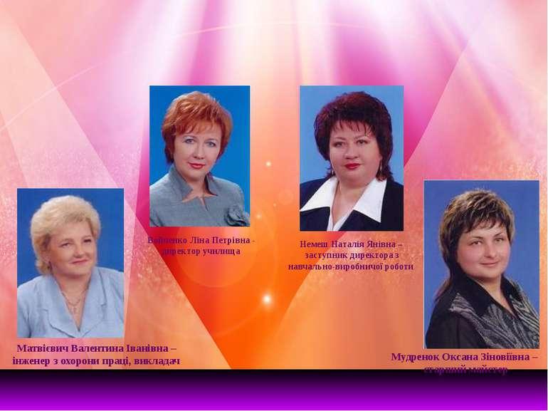 Матвієвич Валентина Іванівна – інженер з охорони праці, викладач Мудренок Окс...