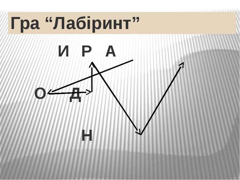 """Гра """"Лабіринт"""" И Р А О Д Н"""