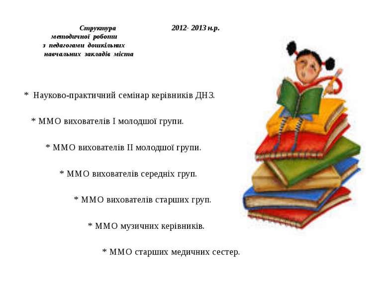 Структура 2012- 2013 н.р. методичної роботи з педагогами дошкільних навчальни...
