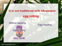 It is not traditional with Ukrainians Willow tapping Egg r