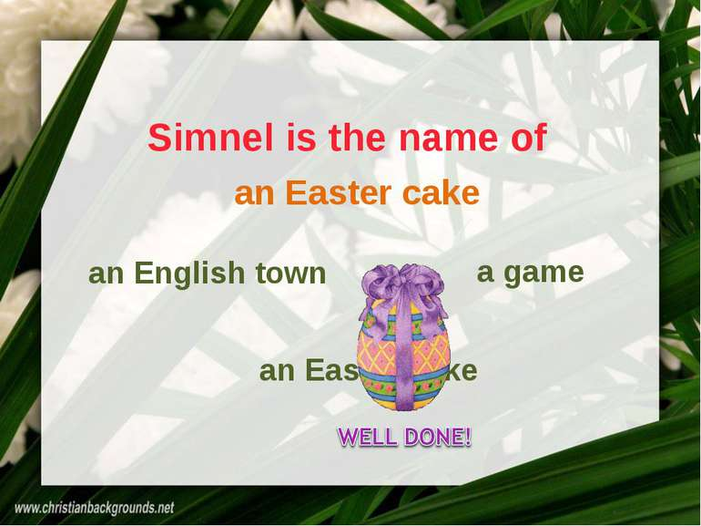 Simnel is the name of an English town a game an Easter cake an Easter cake