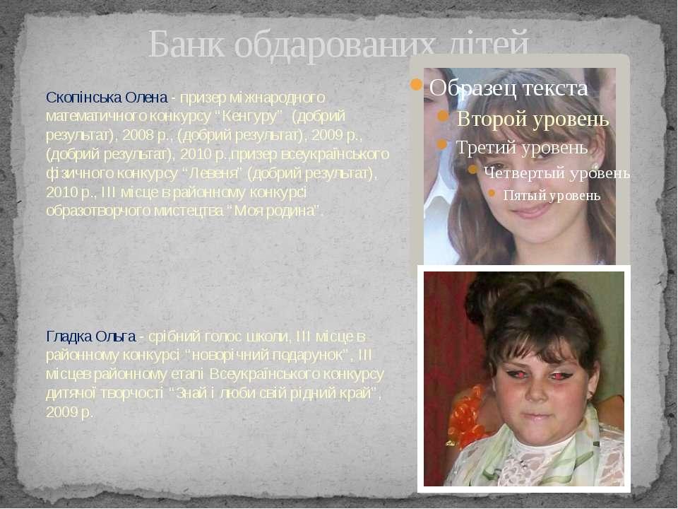 Банк обдарованих дітей Скопінська Олена - призер міжнародного математичного к...