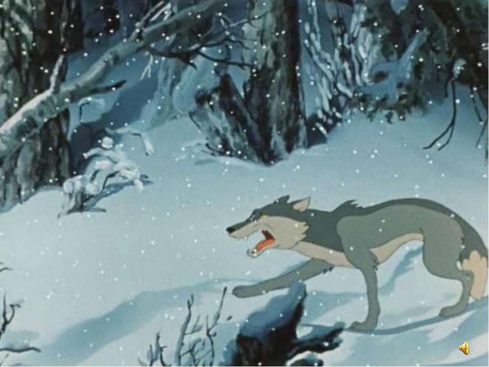 Картинки волка и зайца в лесу