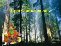 Прогулянка до лісу