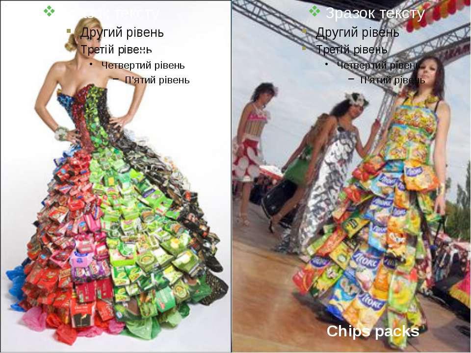 Tea bags Chips packs