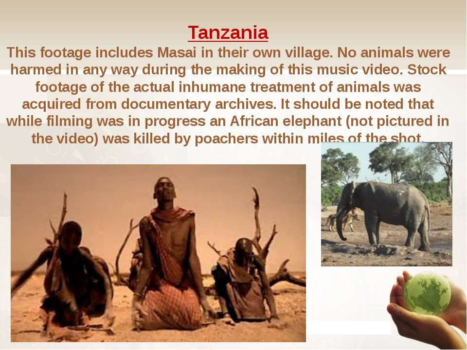 Tanzania This footage includes Masai in their own village. No animals were ha...