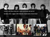 Rolling Stones Genres: rock, blues, blues rock, rhythm and blues, rock and ro...