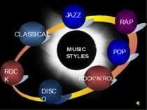 ROCK'N'ROLL JAZZ POP DISCO ROCK CLASSICAL RAP MUSIC STYLES