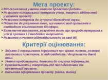 Критерії оцінювання: Зібрана й опрацьована інформація про цікаві листки, розм...