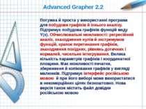 Advanced Grapher 2.2 Потужна й проста у використанні програма для побудови гр...