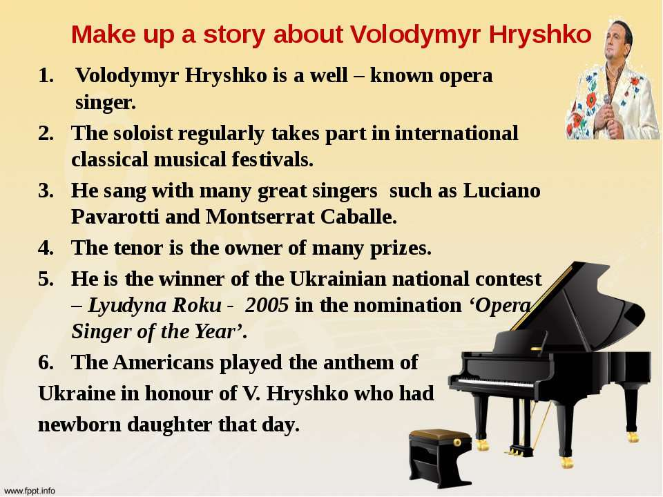Make up a story about Volodymyr Hryshko Volodymyr Hryshko is a well – known o...
