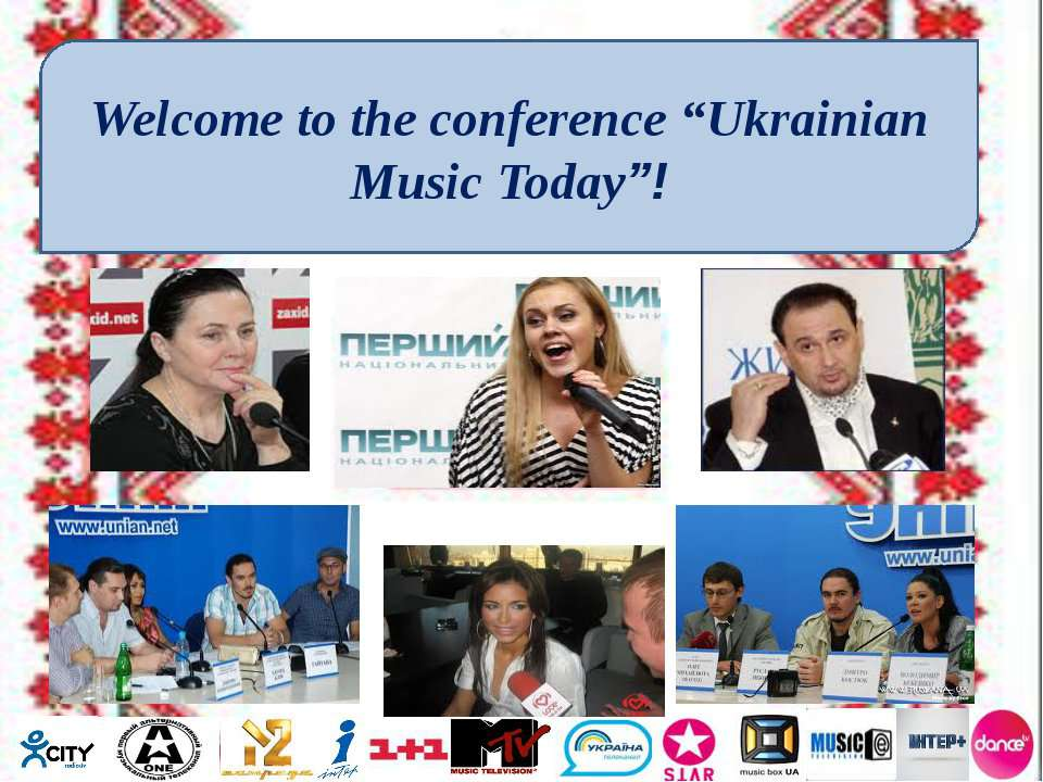 "Welcome to the conference ""Ukrainian Music Today""!"
