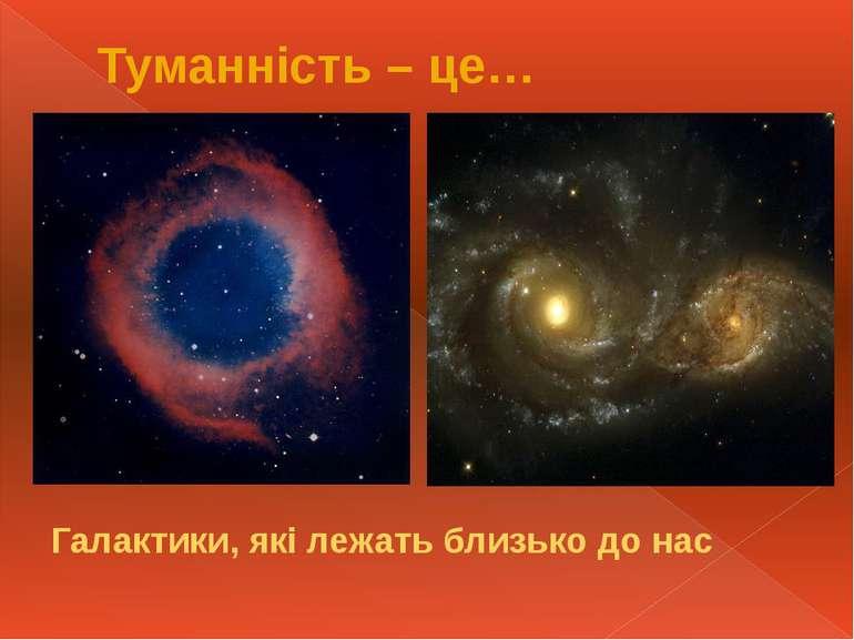 Туманність – це… Галактики, які лежать близько до нас