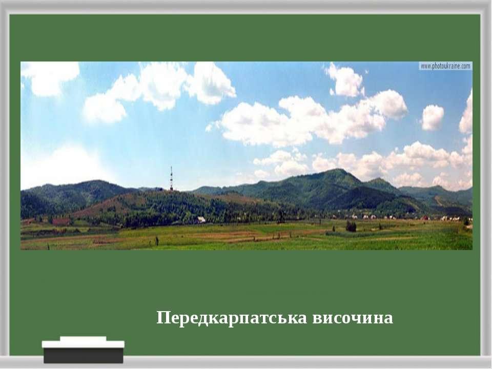 Передкарпатська височина