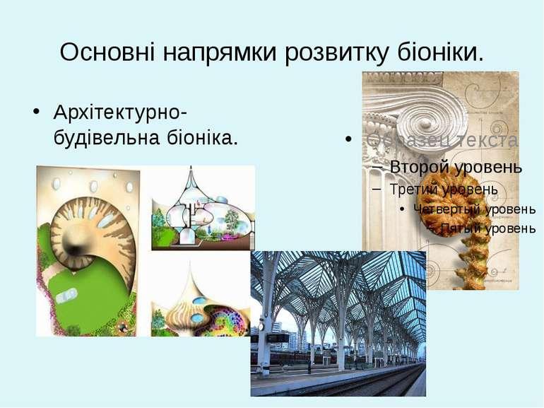 Основні напрямки розвитку біоніки. Архітектурно-будівельна біоніка.