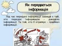 Під час передачі інформації завжди є той, хто передає інформацію – джерело ін...